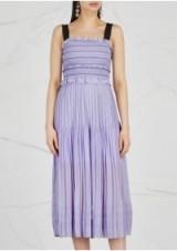 THREE FLOOR Blushin lilac pleated georgette dress