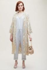 Mes Demoiselles Tille Jacquard Kimono | gold kimonos