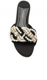 Tony Bianco JOSIE SLIDE in Rope & Pearl Combo / luxe flats