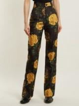KWAIDAN EDITIONS Torrance floral-print straight-leg trousers / yellow flower prints