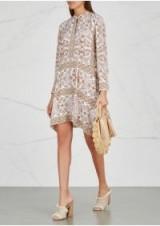TORY BURCH Celeste printed silk dress ~ asymmetric shift dresses