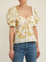 BROCK COLLECTION Trixie floral-print cotton and silk-blend top / feminine summer tops