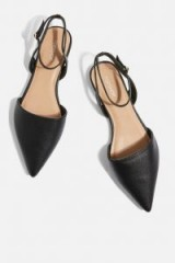 Topshop Two Part Pointed Shoes | black pointy flats