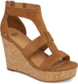 Whitney Platform Wedge Sandal in Chestnut | brown wedges