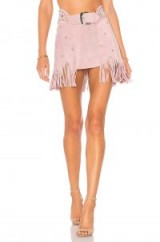 Understated Leather X REVOLVE PARIS TEXAS ~ lilac fringed mini skirts