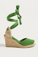UO Erin Espadrille Wedge Sandals | green wedges | ankle wrap espadrilles