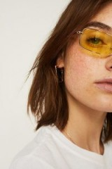 UO Squashed Square Coloured Lens Sunglasses ~ yellow lenses ~ accessories