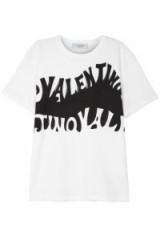VALENTINO Logo-print cotton T-shirt / monochrome designer t-shirts