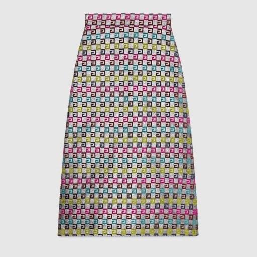 GUCCI Velvet G lurex skirt ~ rainbow coloured skirts - flipped