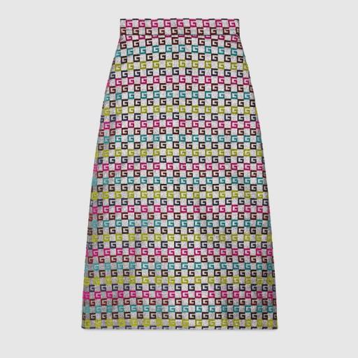 GUCCI Velvet G lurex skirt ~ rainbow coloured skirts
