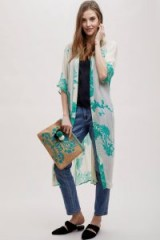Stella Nova Vera Floral Print Kimono | sheer tie waist kimonos | long lightweight jackets
