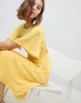 Vero Moda Frill Skater Dress ~ yellow tie back dresses