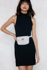NASTY GAL You Haven't Failed Quilted Belt Bag | grey fanny packs | vegan leather bum bags