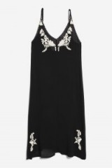 Topshop Western Embroidered Dress | side slit slip dresses