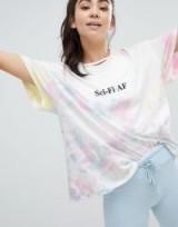 Wildfox Sci-Fi AF Tie Dye T-Shirt in Aura Tiedye | slogan print tee