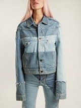 VETEMENTS X Levi's reworked denim jacket ~ panelled vintage-denim jackets