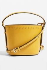 Topshop Yellow Small Bucket Bag | spring colours