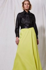 TOPSHOP Yellow Wrap Maxi Skirt by Boutique ~ maxi skirts