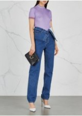 Y/PROJECT Navy staight-leg jeans ~ folded waist ~ contemporary denim