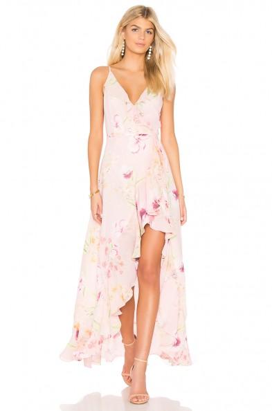 Schutz MEADOW MAXI DRESS Wall Flower / floral asymmetric ruffle dresses