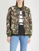 AAPE Camouflage-print shell bomber jacket / green camo