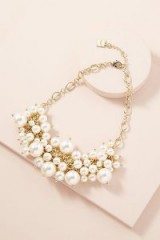 ANTHROPOLOGIE Adella Faux Pearl-Embellished Necklace ~ event accessory
