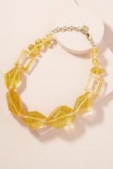 ANTHROPOLOGIE Adona Glitter-Gemstone Necklace ~ yellow statement jewellery