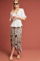 Maeve – Alberta Printed Wrap Skirt / floral maxi