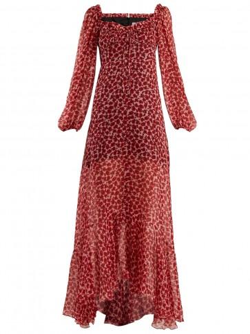 RAQUEL DINIZ Alice poppy-print silk-chiffon gown / summer events