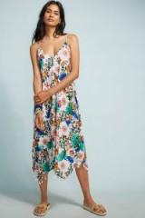 Allihop – Shawna Printed Dress / tasseled handkerchief hem