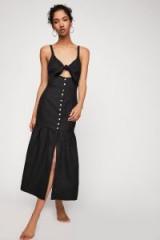 Shona Joy Aria Drop Waist Corset Midi Dress | strappy black sundresses