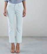 REISS ASHLEY KICK-FLARE CROPPED TROUSERS ICE BLUE ~ cropped summer pants