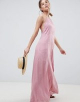 ASOS DESIGN Washed Maxi Dress in pink