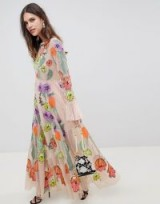 ASOS EDITION embroidered floral maxi dress – summer party events – garden parties