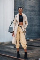 Stylish in neutrals…love this look! ~ street style from Mercedes-Benz Fashion Week Australia 2018