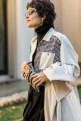 Houndstooth and zebra prints ~ street style at Mercedes-Benz Fashion Week Australia 2018