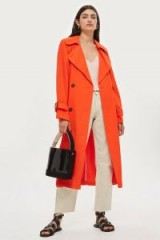 TOPSHOP Orange Batwing Trench Coat