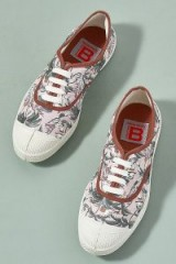 Bensimon Lena Floral-Print Trainers | pink sneakers