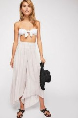 Free People Between the Stars Wide Leg Trousers stone combo | floaty pants
