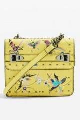 Topshop Bird Embroidered Cross Body Bag | yellow summer accessories