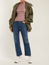 ACNE STUDIOS Blå Konst Log low-rise kick-flare jeans in ~ mid-blue denim