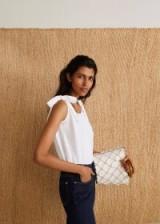 MANGO Bows top white | effortless summer chic