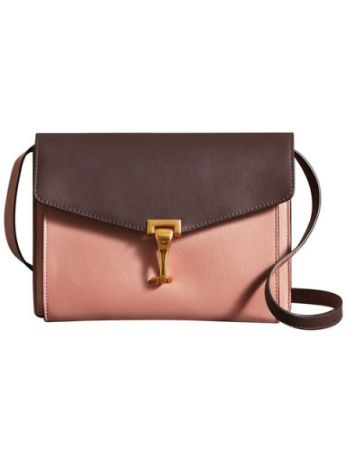 BURBERRY Two-tone Leather Crossbody Bag Dusty Rose – pink handbags e6ee3ab40a0a1