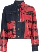 CALVIN KLEIN 205W39NYC X Andy Warhol Dennis Hopper Print Denim Jacket