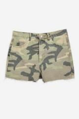 Topshop Camouflage Mom Shorts | camo denim