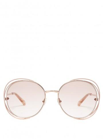 CHLOÉ Carlina round-frame sunglasses ~ chic summer eyewear