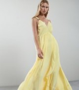 REISS CARLOTTA RUFFLE-DETAIL MAXI DRESS YELLOW / summer evening event