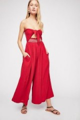Carmen Convertible One-Piece in red | bandeau wide leg jumpsuits