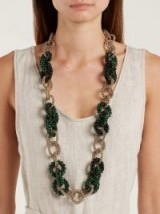 ROSANTICA BY MICHELA PANERO Carramato bead-embellished necklace ~ beautiful statement accessory