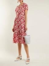 HVN Charlotte strawberry-print silk dress | summer vintage style frocks